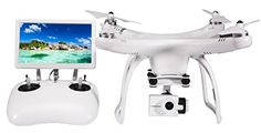 UPair One Drone with 4K Camera Gimbal 7inch Large FVP Screen Live Video 24G Remote Controller GPS Auto Return to Home Function *** Details can be found by clicking on the image.