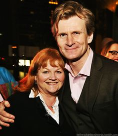 Beryl Patmore and Michael Gregson at the opening of Blithe Spirit at the Ahmanson Theatre, LA, 15/12/14. (© Ryan Miller/Capture Imaging)