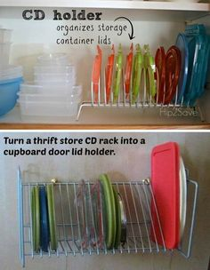 Plastic Container Lid Organization System, Using Office Supply File/mail  Wire Mesh Or Clear Plastic Holders | Home Organizer | Pinterest | Plastic  ...