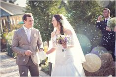 Married couple embraced by Bubble confetti Confetti, Bubbles, Weddings, Couples, Wedding Dresses, Fashion, Bride Dresses, Moda, Bridal Gowns
