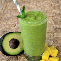 Mango Avocado Smoothie Recipe - Creamy summer smoothie made without yogurt