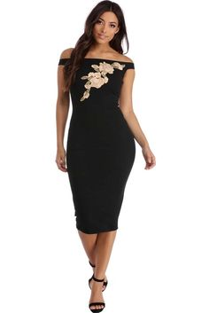 a5cb8809dfda8 Mallory Black Floral Midi Dress Club Dresses, Formal Dresses, Floral Midi  Dress, Perfect