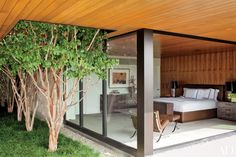 Contemporary Bedroom Ideas and Inspiration | Architectural Digest | Marmol Radziner designed master bedroom