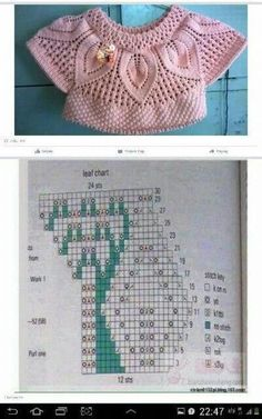 New crochet baby sweater vest ideas Diy Crafts Knitting, Diy Crafts Crochet, Knitting For Kids, Baby Knitting, Lace Knitting Patterns, Knitting Charts, Knitting Stitches, Pull Crochet, Crochet Baby