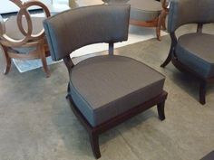 danish 50s chair in fabric and walnut wood $1,400