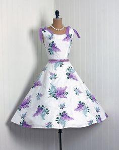 1950's Vintage Lavender Dress by JSC