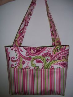 Aivilo Tote Bag -  easy PDF Purse Sewing Pattern - 4 Sizes to Make - lots of pockets - instant download
