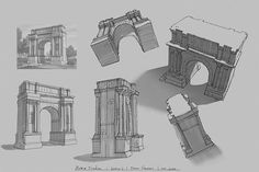 Wonderful architectural sketches by Intro to Environment Painting student Stefan Stankovic. Learn more at https://www.learnsquared.com/courses/intro-environment-painting