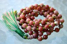 Natural Jasper Hand Knotted Mala Beads Necklace - Boost Confidence, For Insomnia