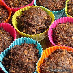 Diós-mákos répatortácskák - Nóra mindenmentes konyhája Meatloaf, Paleo, Muffin, Breakfast, Recipes, Dios, Morning Coffee, Beach Wrap, Muffins