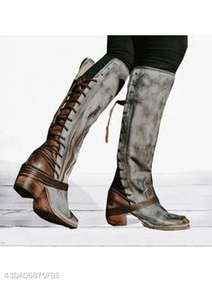 559bc78472c Plain Round Toe Casual Outdoor Knee High High Heels Boots - berrylook.com  Short Ankle
