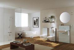 Croce e delizia della casa, il bagno è l'ambiente che richiede più interventi. Monolith di Geberit è una famiglia di moduli per installare lavabo, vaso o bidet davanti a pareti preesistenti, anche in cartongesso, senza opere di muratura. Il parallelepipedo per wc racchiude la cassetta di risciacquo, quello lavabo sostiene la ciotola e gli accessori. Tempo: 2 ore Geberit Monolith, Bathtub, Bathroom, Roxy, Powder Room, Environment, Home, Bath, Standing Bath