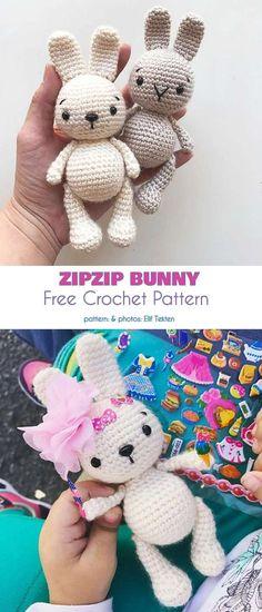 44 Ideas For Crochet Baby Toys Amigurumi Crochet Baby Toys, Easter Crochet, Crochet Bunny, Crochet Animals, Crochet Crafts, Crochet Dolls, Crochet Projects, Free Crochet, Hat Crochet