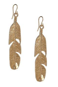 Bronze Feather Earrings.