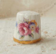 Vintage Rose Thimble by glassbeadtreasures, via Flickr