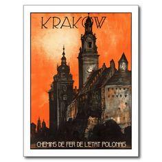 Krakow, Poland - Vintage Travel Art x Vintage Travel Posters, Vintage Travel ads Retro Poster, Poster Ads, Vintage Travel Posters, Poster Prints, Art Prints, Art Posters, Pub Vintage, Vintage Art, Etsy Vintage