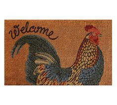 Sunrise Rooster Doormat