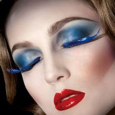 Most popular tags for this image include: make up style, blue, false eyelashes Makeup And Beauty Blog, Beauty Make Up, Beauty Skin, Beauty Tips, Photo Makeup, Makeup Art, Eye Makeup, 1920 Makeup, Makeup Ideas