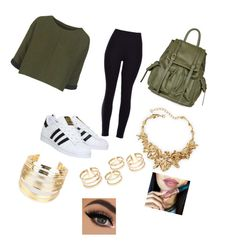 """altags look ♡"" by kiiit-thy on Polyvore featuring adidas, Topshop, Oscar de la Renta and WithChic"