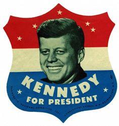 JFK - John F. Kennedy For President style Bumper Sticker decal Jfk Kennedy, John F Kennedy, American Presidents, Us Presidents, American History, Midcentury Modern, Familia Kennedy, Campaign Signs, John Fitzgerald