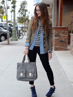 3 Ways to Wear a Chambray Shirt http://www.womenshealthmag.com/style/how-to-wear-chambray-shirt
