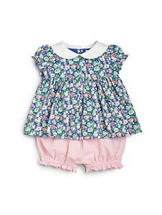 Ralph Lauren - Infant's Two-Piece Ruffled Top & Floral Shorts Set