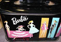 Barbie Vintage Train Case ponytail  Mattel by Starrylitvintage, etsy