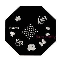 1pc Nail Art Stamp Template Cute Mouse Bowknot Dot Design– RuiZ03 - Mickey Mouse nail stamping plate for under $3 :D