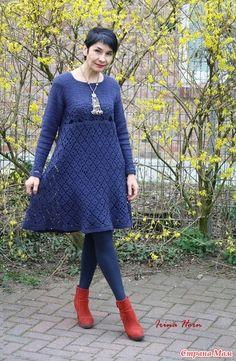 Fashion Over 40, Rubrics, Crochet Clothes, Knit Dress, Crochet Projects, Blue Dresses, Designer Dresses, Plus Size, Pullover