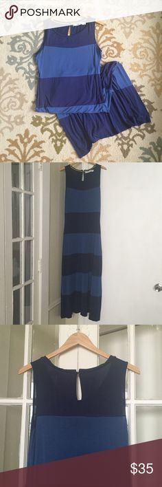 """Striped Maxi Dress Super soft striped maxi dress. It's long for a medium- if you are 5'4"""" or shorter it would be too long for you. In great condition- only worn once or twice. Sunmer & Sage Dresses Maxi"""