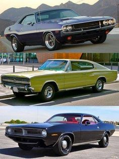 Dodge and Plymouth muscle cars.