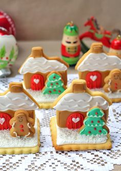 butter hearts sugar: Gingerbread House Stand Up Sugar Cookies - oooh so cute!