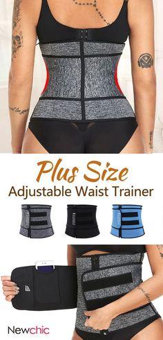 dea263c168d Plus Size Neoprene Tummy Control Sports Zipper Adjustable Waist Trainer  Steel Bones Slimming Sauna  shapewear