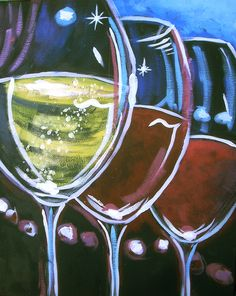 "Next Paint & Sip ""Wine Glasses"" July 18 