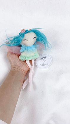Fairy / tooth fairy / Handmade doll Beautiful Fairies, Beautiful Dolls, Pink Tulle, Joy And Happiness, Fairy Dolls, Tooth Fairy, Handmade Dolls, Cool Baby Stuff, Cute Designs