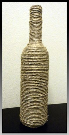 Twine Wrapped Bottle by RusticallySimple on Etsy, $10.00