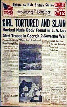 Elizabeth Short | Newspaper in the week after the murder