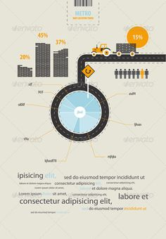 Infographics circuit supplies load on the tractor - Infographics   #infographic #graphic #design #graphicdesign #web #graph #stats #chart #statistic #pie #vector #eps #illustrator #metro #tractor #city #street