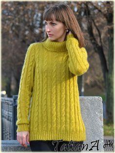 """Купить Свитер """"Mohair Classics"""" - комбинированный, свитер, свитер вязаный, свитер женский, свитер спицами"""