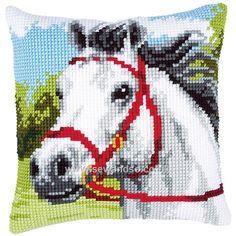 White Horse Cushion Front