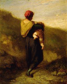 Jean-François Millet (French, 1814-1875), Mère et enfant, c. 1846-48. Oil on canvas, 40.6 x 32.7 cm.