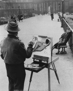 The Painter On The Arts Bridge, Paris 1953 - Robert Doisneau