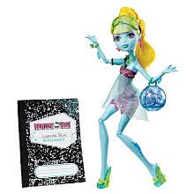 Monster High 13 Wishes Lagoona Blue with pet Neptuna (owned)