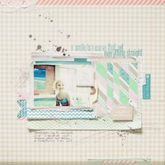 Anna-Maria's layout...love how she did the diagonal strips and layered.