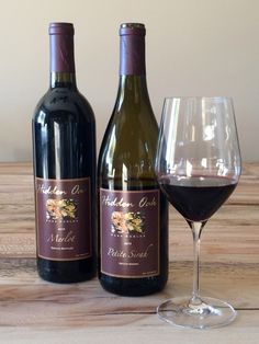 Back Roads Wineries of Paso Robles - Wines - Hidden Oak Merlot and Petite Sirah