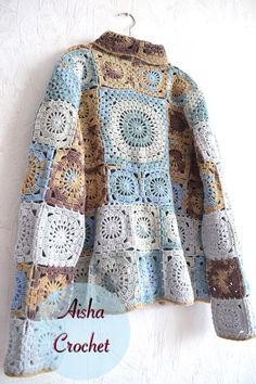 VK is the largest European social network with more than 100 million active users. Crochet Jumper, Crochet Diy, Crochet Coat, Crochet Jacket, Knitted Poncho, Crochet Clothes, Knit Patterns, Clothing Patterns, Crochet Squares