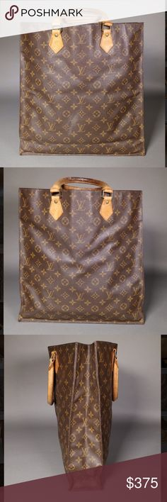Louis Vuitton Sac Plat Monogram Shopper Tote * Ships same or next day * * Reasonable offers welcome *   - Please see last photo for a full, detailed description!   - Overall a nice, pre-owned bag with a lot of life left, with no stickiness/ peeling/ bubbling inside! Louis Vuitton Bags Totes