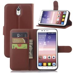 Free Shipping Litchi Texture Flip Case Wallet Style PU Leather Case for Huawei Ascend Y625 with Stand Function and Card Holder