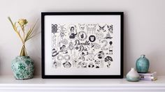 Doodle or Die Letterpress Print