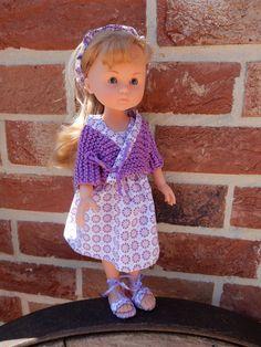 En Cathymini - Tenue parme: cache coeur, robe et bandeau pour poupées Chéries de Corolle 33 cms et autres poupées compatibles - Couture et tricot .